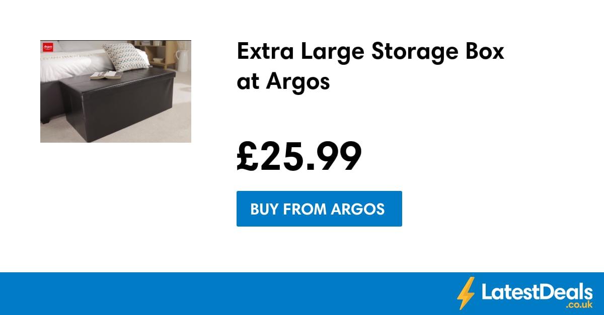 extra large storage box at argos. Black Bedroom Furniture Sets. Home Design Ideas