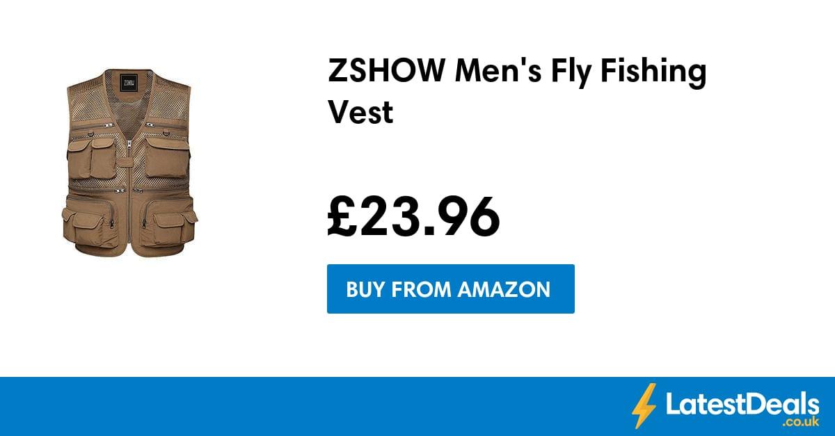 Zshow Men S Fly Fishing Vest 163 23 96 At Amazon
