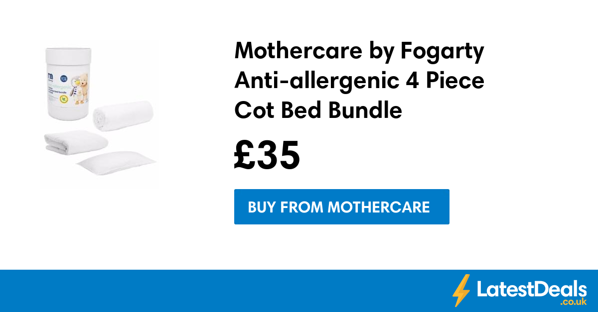 Mothercare By Fogarty Anti Allergenic 4 Piece Cot Bed
